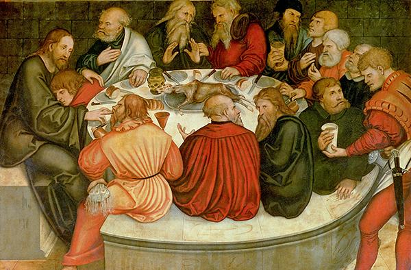 Ausschnitt des 'Reformationsaltars' von Lucas Cranach.