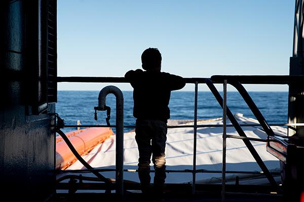 Geflüchtetes Kind auf der Sea-Watch 3, im Dezember 2018.