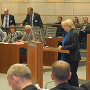 NRW-Ministerpräsidentin Hannelore Kraft hielt eine Begrüßungsrede.
