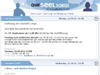 Die Startseite von ChatSEELsorge.de