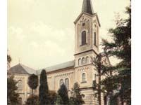 Alte Ansicht der evangelischen Kirche in Essen-Kupferdreh
