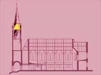 Die Türen der Immanuelskirche in Wuppertal stehen offen.