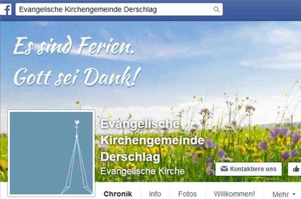 Wir wünschen gute Erholung! Screenshot der Facebook-Seite der Gemeinde Derschlag.