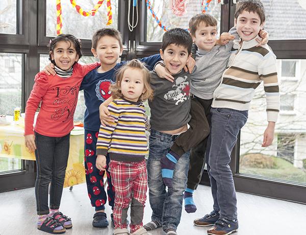 Kidsmobil in der Flüchtlingsarbeit des Diakoniewerks Essen. Foto: Julia Fiedler