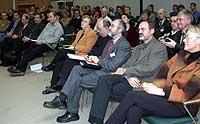Diskussion über Nachhaltigkeit: NRW-Minsterin Bärbel Höhn gehörte zu den Gästen im Landeskirchenamt