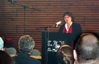 Oberkirchenrätin Petra Bosse-Huber beim Mülheimer Symposium über kirchliches Arbeitsrecht.