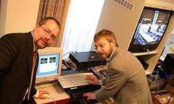 Ralf Peter Reimann und Thomas Unruh realisieren den Live Stream aus Bad Neuenahr.