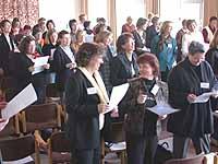 Eingestimmt auf einen regelmäßigen Austausch: In Bonn trafen sich Frauen in Leitungspositionen.