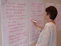 Gut gesammelt: Vorschläge für künftige Handlungsfelder der Frauenversammlung.