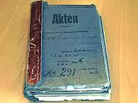 In der Akte dokumentiert: Pfarrer Hans Karl Hack gehörte zu den vom Konsistorium behinderten Pfarrern.