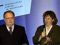 Pläne und Erfolgsgeschichten: Oberkirchenrat Dembek und Vizepräses Bosse-Huber.