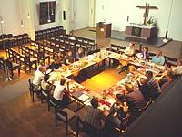 Presbyteriumssitzung in Köln-Bickendorf: Am 23. April kommen die Presbyterinnen und Presbyter aus der rheinischen Kirche in Bonn zusammen.