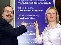 Trauernetz erneuert: Carmen Berger-Zell und Ralf Peter Reimann.