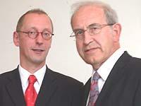 Der neue Diakonie-Direktor Uwe Becker (l.) mit seinem Vorgänger Dr. Reinhard Witschke.