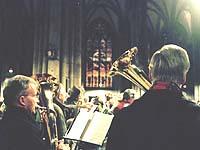 Zu Gast im katholischen Kölner Dom: evangelische Posaunenchöre.