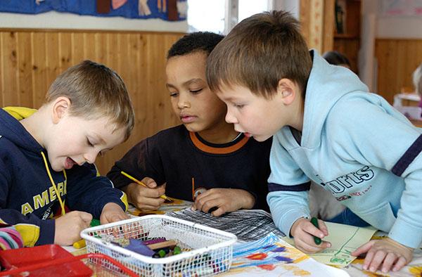 Interkulturell geöffnet: evangelische Kindertagesstätte.