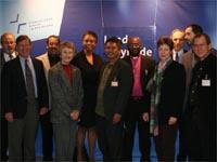 Die ökumenischen Gäste aus den USA, Ruanda, Indonesien und Belgien begleitet von der Ökumene-Abteilung der EKiR