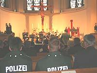 Weihnachtlicher Gottesdienst für Polizistinnen und Polizisten.