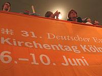 Mitdiskutieren, mitbeten, mitfeiern: In Köln ist im Juni Kirchentag.