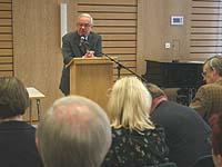 Hatte die große Zahl der Teilnehmenden am Morgen begrüßt: Vizepräsident Christian Drägert.