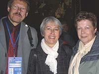 Delegation der Evangelischen Kirche im Rheinland (v.l.): Superintendent Christoph Pistorius, Renate Brunotte und Kirchenrätin Christine Busch.