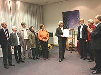 Außerdem zeichnete der Präses das Team des Betreuungscafés für Demenzkranke in Velbert-Langenberg aus.