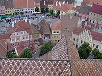 Blick von der Evangelischen Kirche aus: Sibiu / Hermannstadt  - Ort der Dritten Ökumenischen Versammlung