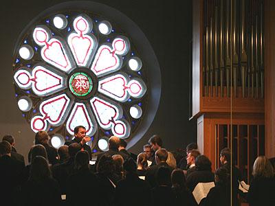 Der Madrigalchor der Hochschule für Musik Köln sang im Eröffnungsgottesdienst der Landessynode 2009. Alle Fotos: ekir.de