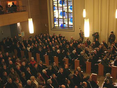 Der Eröffnungsgottesdienst in der Martin-Luther-Kirche steht am Beginn der Landessynode.
