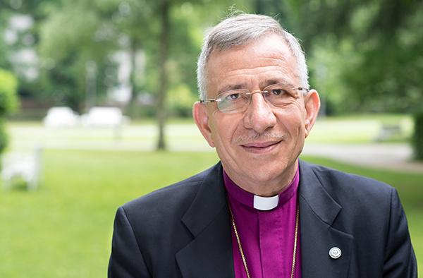 Bischof Dr. Munib A. Younan bei seinem Besuch in Kaiserswerth, 2013.