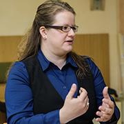 Karin Bartl ist die stellvertretende Leiterin des evangelischen Frauenhauses in Duisburg.