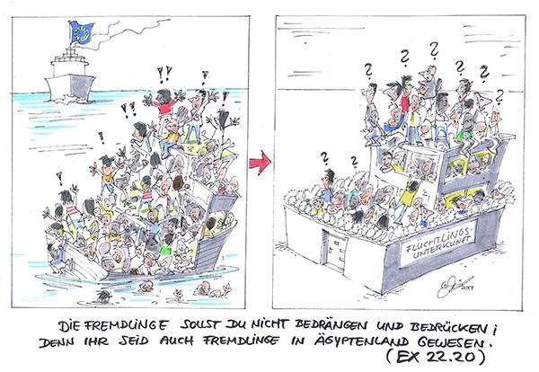 Erst zusammengepfercht auf lebensgefährlichem Kahn, dann in ungewissem Gewässer in deutschen Flüchtlingsheimen, kujoniert von  zwielichtigem Sicherheitspersonal: Der Schutz von Flüchtlingen muss neu organisiert werden.
