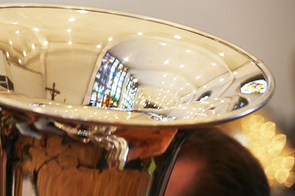 Auch die Blechblasinstrumente waren gefragt beim Rheinischen Kirchenmusikfest in Bonn.
