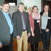 Diskutierten über Kitas (v.l.): Oberkirchenrat Eberl, Ministerialdirigent Walhorn, Autorin Müller und Kita-Fachleiterin Herrenbrück.