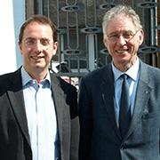 Gemeinsames Projekt: Monsignore Rainer Fischer (r.) und Pfarrer Dr. Martin Bock.