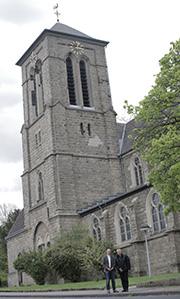 St. Barbara, die katholische Kirche in Eschweiler-Pumpe-Stich, wird die neue Heimat auch für die evangelischen Christinnnen und Christen.