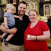 Jaqueline Bree mit Ehemann Jens Lübbe und Sohn Jannes