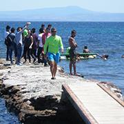 Ein paar Stunden Sorglosigkeit: Ausflüge ans Meer mit geflüchteten Kindern und Jugendlichen.