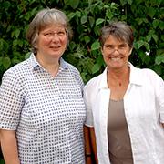 Beate Meurer (links) und Pfarrerin Eva Esche.