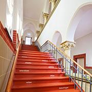 Die Treppe im Haus Tabea.