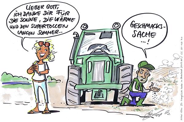 Ein Cartoon von Michael Hüter.