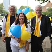 Mit beim Pilgerweg: Dr. Jürgen Thiesbonenkamp, Dorothee Bartsch, und Okko Herlyn.