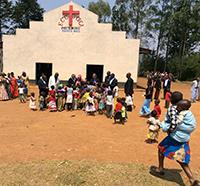 In der Kirche in Muku wurde gemeinsam Gottesdienst gefeiert.