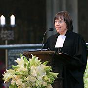 Gott muss da sein für die, die verloren gingen: Präses Annette Kurschus.