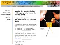 Website Interkulturelle Woche