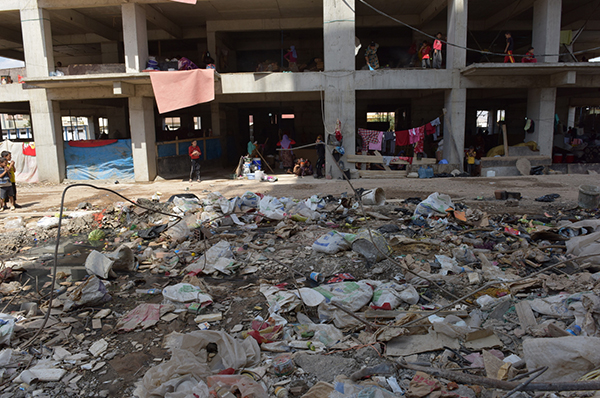 Rohbau als Notunterkunft: Jesidische Flüchtlinge im Nordirak.