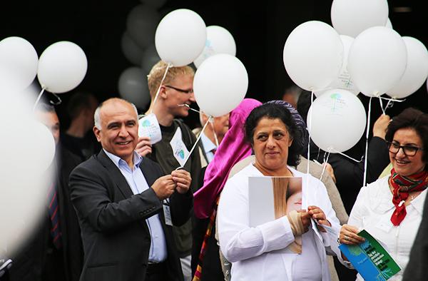 Beim ersten Tag des christlich-islamischen Dialogs, Krefeld, Mai 2014.
