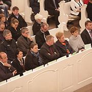 Ministerpräsidentin Annegret Kramp-Karrenbauer und ihr Kabinett nahmen an dem Gottesdienst teil.