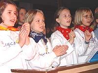 Singen ist angesagt beim Kirchenmusikfest - wie hier beim Kindersingtag in Bonn.