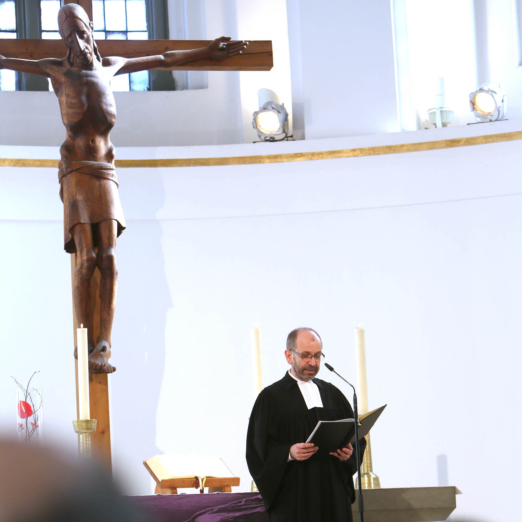 Präses Manfred Rekowski in der Düsseldorfer Johanneskirche.